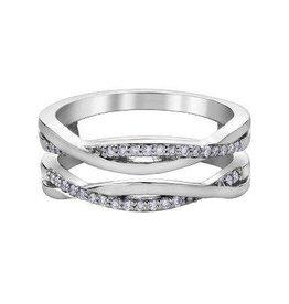 Diamond Ring Guard (0.15ct) White Gold