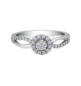 I am Canadian Halo Canadian Diamond (0.30ct) White Gold Ring