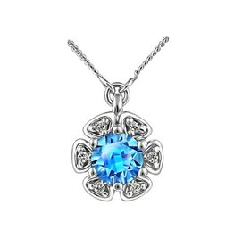 Blue Topaz & Diamonds