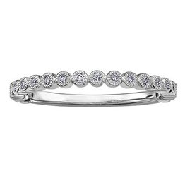 Stackable Diamond (0.10ct) Yellow Gold Band