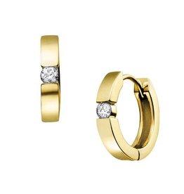Diamond Hoops (0.10ct) 10K Yellow Gold