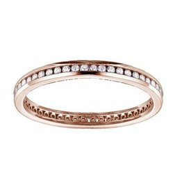 Rose Gold (0.25cttw) Channel Set Diamond Eternity Band