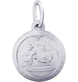 Sterling Silver Baptism Disc