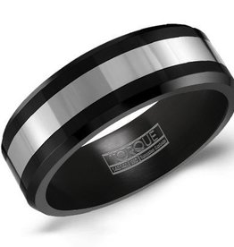 Torque Tungsten and Black Ceramic 8mm Band