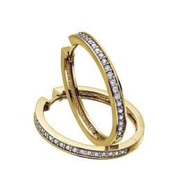 Diamond Hoops (0.05ct) Yellow Gold