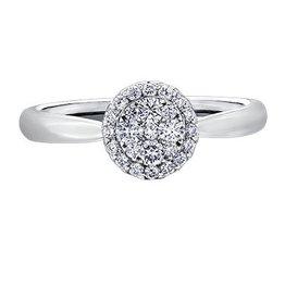 Estoria Cluster Diamond (0.33ct) White Gold Ring