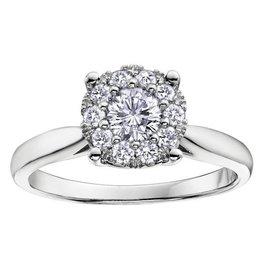 White Gold (0.08ct) Starburst Diamond Ring