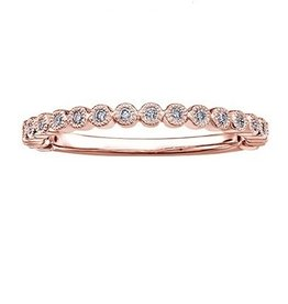 Stackable Diamond (0.10ct) Rose Gold Band