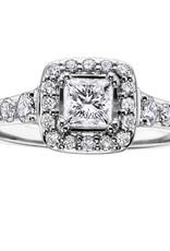 Maple Leaf Diamonds Halo Princess (0.50ct) Canadian