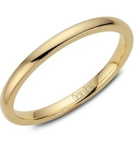 Yellow Gold Dome Band (2mm) Size 6