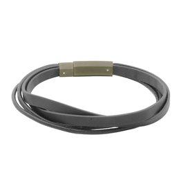 Steelx Black Steel/Leather