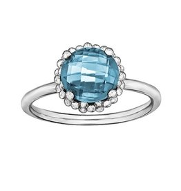 Blue Topaz Checkered Cut