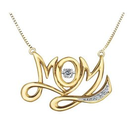 Yellow Gold (0.10cttw) Dancing Diamond Necklace