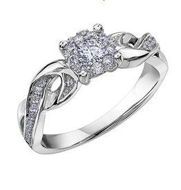 Starburst (0.315ct) Diamond Ring White Gold