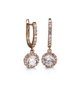 Dangle CZ Earrings 10K Rose Gold