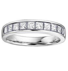 White Gold (0.75ct) Princess Cut Diamond Band