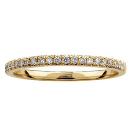 Yellow Gold (0.15cttw) Pavee Set Diamond Band