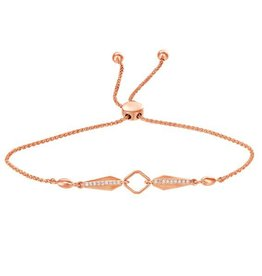Rose Gold (0.09cttw) Diamond Lariette Bracelet