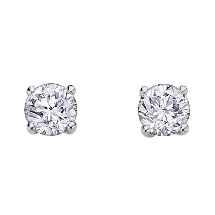 Canadian Diamond Studs 0 15ct White Gold