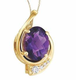 Amethyst & Canadian Diamond