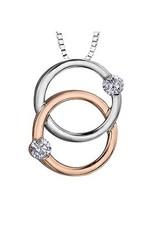 Together Forever (0.15ct) White & Rose Gold Diamond Pendant