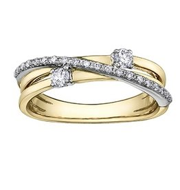 I am Canadian Perfect Together Two Tone (0.25ct) Canadian