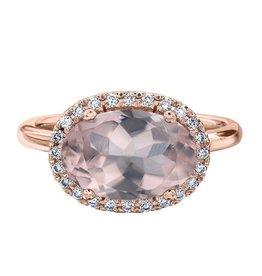 Rose Quartz & Diamonds