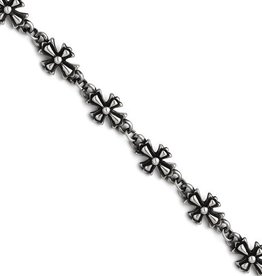 Antiqued Crosses Bracelet