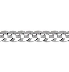 """Curb Chain (7mm) Sterling Silver 24"""""""