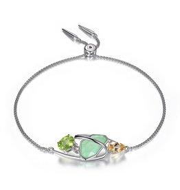 Elle Bouquet Green, Citrine and Lemon Quartz Sterling Silver