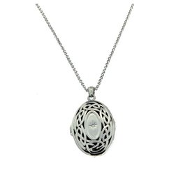 Keith Jack Eternity Knot Diamond Locket