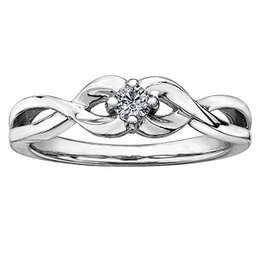 Canadian Diamond Wavy Ring (0.10ct)