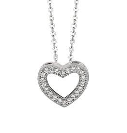 Heart CZ Pendat Sterling Silver