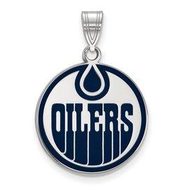 Edmonton Oilers Enamel (18mm) Sterling Silver