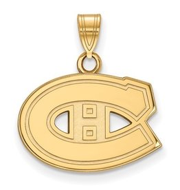 Montreal Canadiens (18mm) 10K Yellow Gold Pendant