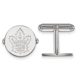 Toronto Maple Leafs Cuff Links Sterling Silver