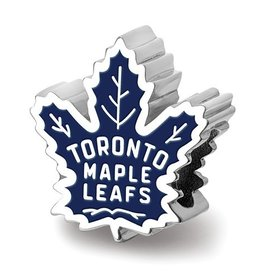 Toronto Maple Leafs Enameled Bead Sterling Silver