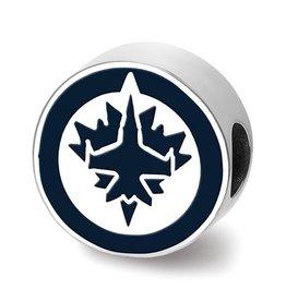 Winnipeg Jets Enameled Bead