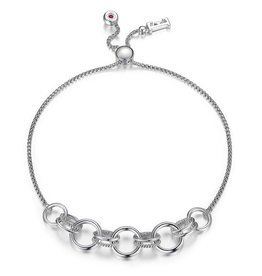 Elle Essence Collection Double Circle Bolo Bracelet
