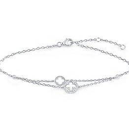 CZ Clover Bracelet