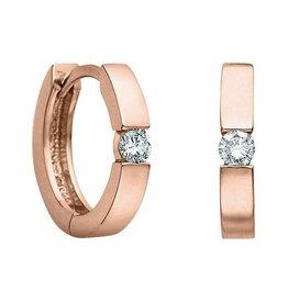 Huggie Diamond Earrings (0.10ct) Rose Gold