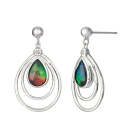 Abigail Ammolite Sterling Silver Earrings