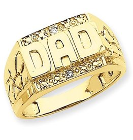 14K Gold DAD Diamond Ring