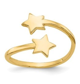 14K Double Star Toe Ring