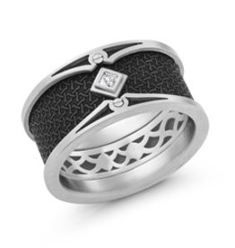 Mardini White Gold and Carbon Fiber with Diamond (0.05ct)