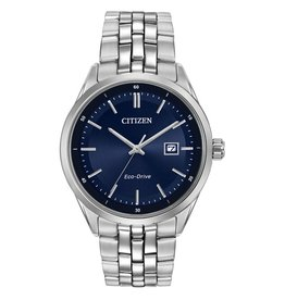 Corso Stainless Steel with Blue Face Eco Drive