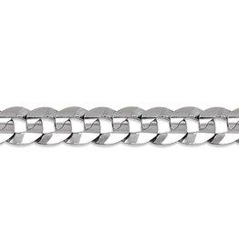 """Sterling Silver Curb Link Bracelet (7mm) 8.5"""""""