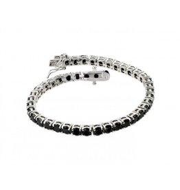 Sterling Silver 925 Rhodium Plated Black Onyx Bracelet