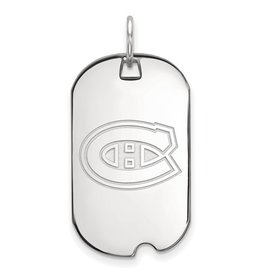 Montreal Canadiens Dog Tag Sterling Silver (Small)