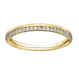 Yellow Gold (0.15cttw) Diamond Band (14K)